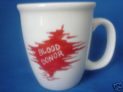 Personalized Ceramic Coffee Mug Blood Donor Handpainted