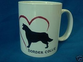 Personalized Ceramic Mug Border Collie Dog Handpainted - $12.50