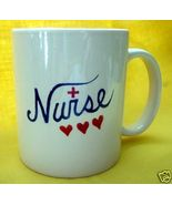 Personalized Ceramic Coffee Mug Nurse Love Handpainted - $12.50