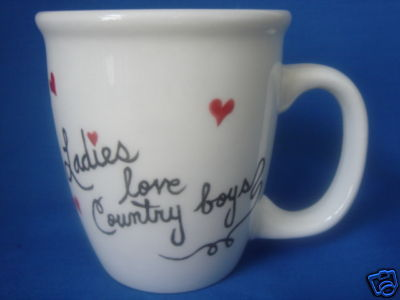 Personalized Mug Ladies Love Country Boys Handpainted