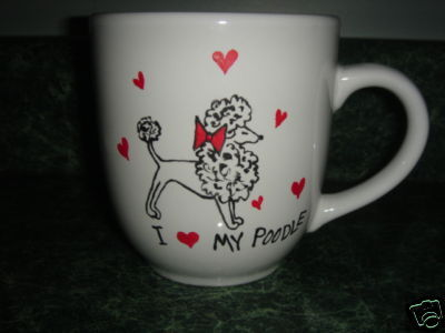 Personalized Ceramic Mug  I love my POODLE