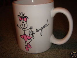 Personalized Ceramic Mug.  Life is good  Ballet Dancer - $12.50