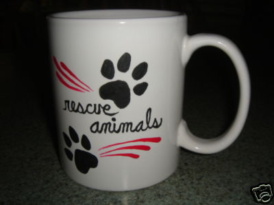 Personalized Ceramic Mug. Rescue Animals