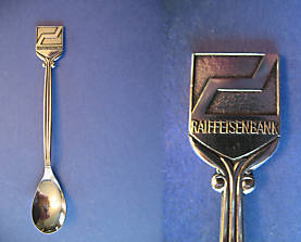 VIENNA Austria Souvenir Collector Spoon Collectible RAIFFEISEN BANK ZENTRALBANK