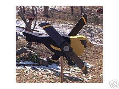 Whirligig, Yellow Headed Black Bird. Handcrafted,handpainted,wind mobile,wind sp