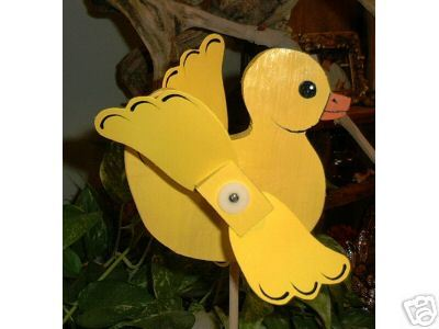 Whirligig Wind Mobile Yellow Puddle Duck Handcrafted