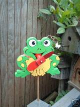 Whirligig Frog wind mobile Handpainted Handpain... - $30.00