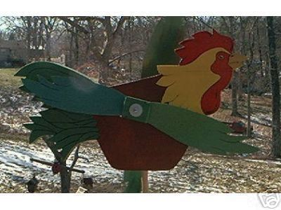 Whirligig Rooster mobile wood Handcrafted Handpainted