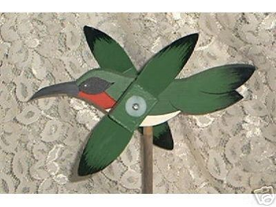 Whirligig Wind Mobile Humming Bird Handcrafted