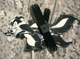 Whirligig, Lover- PePe Lepew Handcrafted, Handpainted,Wind Mobile,motion object - $58.00