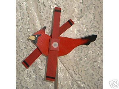Whirligig, Red Cardinal. Handcrafted,Handpainted,wind spinner,wind mobile,motion