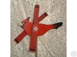 Whirligig, Red Cardinal. Handcrafted,Handpainted,wind spinner,wind mobil... - $35.00
