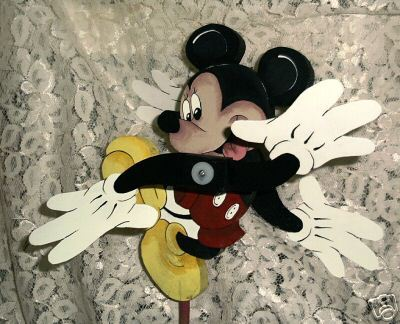 Whirligig Mickey Mouse -Wind Mobile, Handcrafted, Handpainted,wind mobile,motion