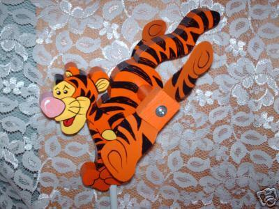 Whirligig,Tigger Tiger, Handpainted,Handcrafted,wind mobile,wind spinner,motion
