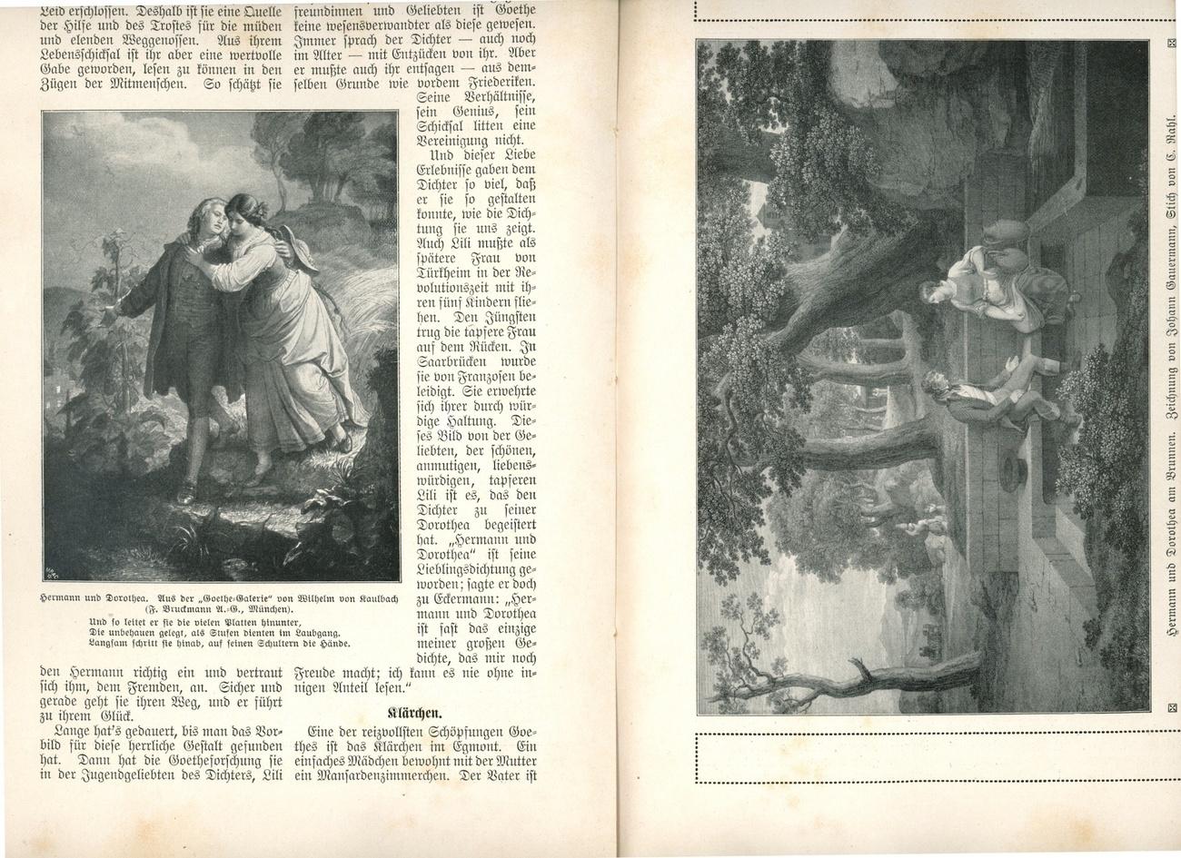 Goethes Frauengeflalten Bolksbucher der Liteature No. 80 book