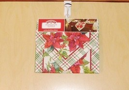 Holiday Time Woven Decorative Runner Red Poinsettias NEW NICE - $9.99