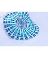 72 Inch Large Round Indian Handmade Beach Blanket Cotton Meditation Picn... - $24.98