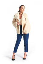 Beige Beaver Fur Coat - $891.00
