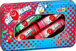 Air Heads Candy Flavored Lip Balm Gloss 4 Tube Tin Watermelon Cherry Str... - $4.91