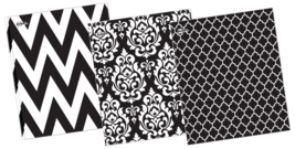 3 pack Avery® Paper Folders Two-Pockets, Black and White - $12.99
