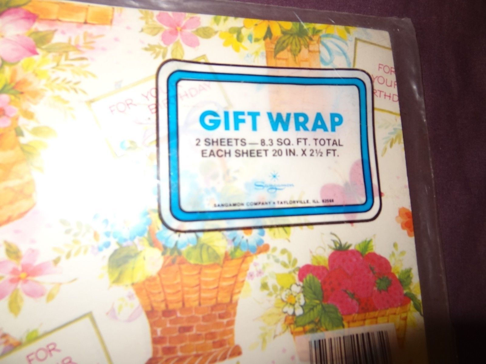 """Vintage American Greetings Gift Wrap Wrapping Paper SUNSHINE YELLOW 20/""""x30/"""" 2 pc"""