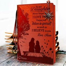 to My Daughter Leather Journal from Mom- Touching Present for Christmas ... - $31.43