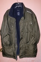 Nautica Men's Forest Green Coat Size XXL Polyester Collar Stow Away Hood  - $39.93