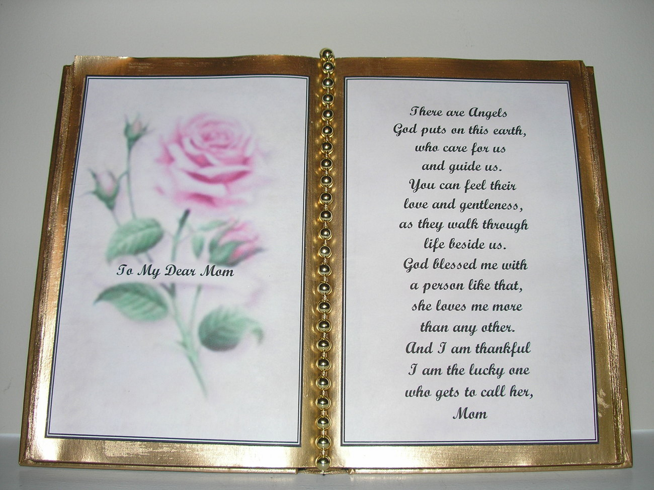 MOM DECORATED BOOK ~  PINK ROSE