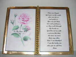 MOM DECORATED BOOK ~  PINK ROSE   - $12.00
