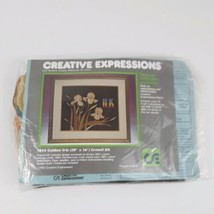 Vintage 1982 Creative Expressions 1844 Golden Iris Crewel Kit 20 X 16 Ne... - $23.36