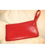 Valentine-Red Clutch Purse VTG 1950's-60's Viny... - $13.34