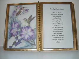 MOM DECORATED BOOK ~  HUMMINGBIRDS WITH HIBISCUS   - $12.00