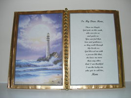 MOM DECORATED BOOK ~  PURPLE LIGHTHOUSE   - $12.00