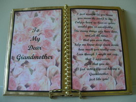 GRANDMOTHER DECORATED BOOK ~ PINK ROSE BUDS - $12.00