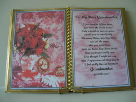 GRANDMOTHER DECORATED BOOK ~ ROSES IN VASE - $12.00