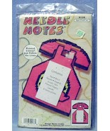 Design Works Needle Notes Message Pad Plastic Canvas Kit #136 Pink Phone... - $6.99