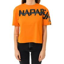 T-SHIRT DONNA NAPAPIJRI SOLT W NP000IUU.541  TEE WOMAN LOGO Arancione - $51.12