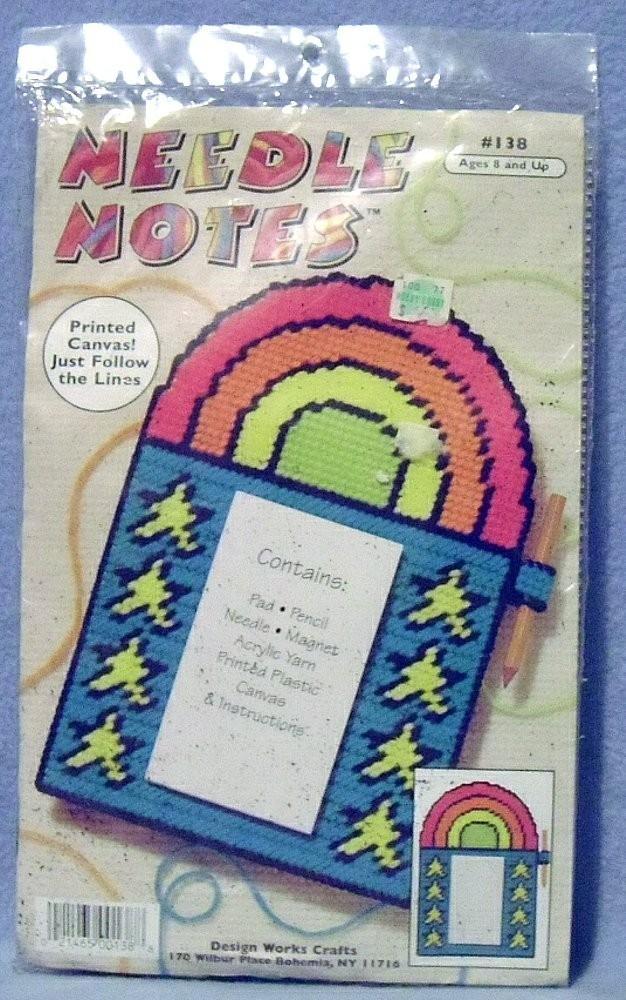 Design Works Needle Notes Message Pad Plastic Canvas Kit #138 Rainbow NIP