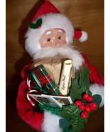 Byer's Choice Caroler, Red Velvet Santa w/ Stoc... - $62.00
