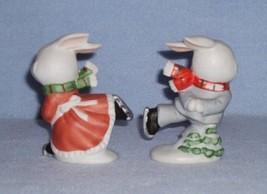 Homco 5305 Skating Bunnies 2 Figurines Home Interiors Rabbits image 3