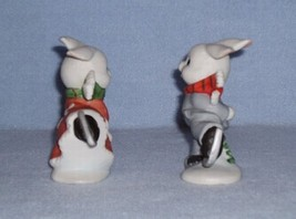 Homco 5305 Skating Bunnies 2 Figurines Home Interiors Rabbits image 4