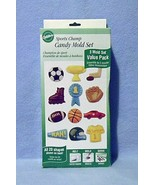 Wilton Candy Molds Set Sports Champ 3 Molds 20 Shapes New in Box - $7.99