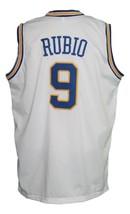Ricky Rubio #9 Minnesota Muskies Aba Basketball Jersey Sewn White Any Size image 2