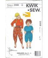 Kwik Sew #2008 Girls' Tops & Pants Sizes 4 5 6 7 Designed by Kerstin Mar... - $6.99