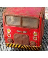 Tin Toy Truck Car Carrier.  Vintage for Parts, Repair, Display.  Y-296 - $17.00