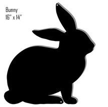Bunny Black Silhouette Laser Cut Out Reproduction Sign 14x16 - $25.74