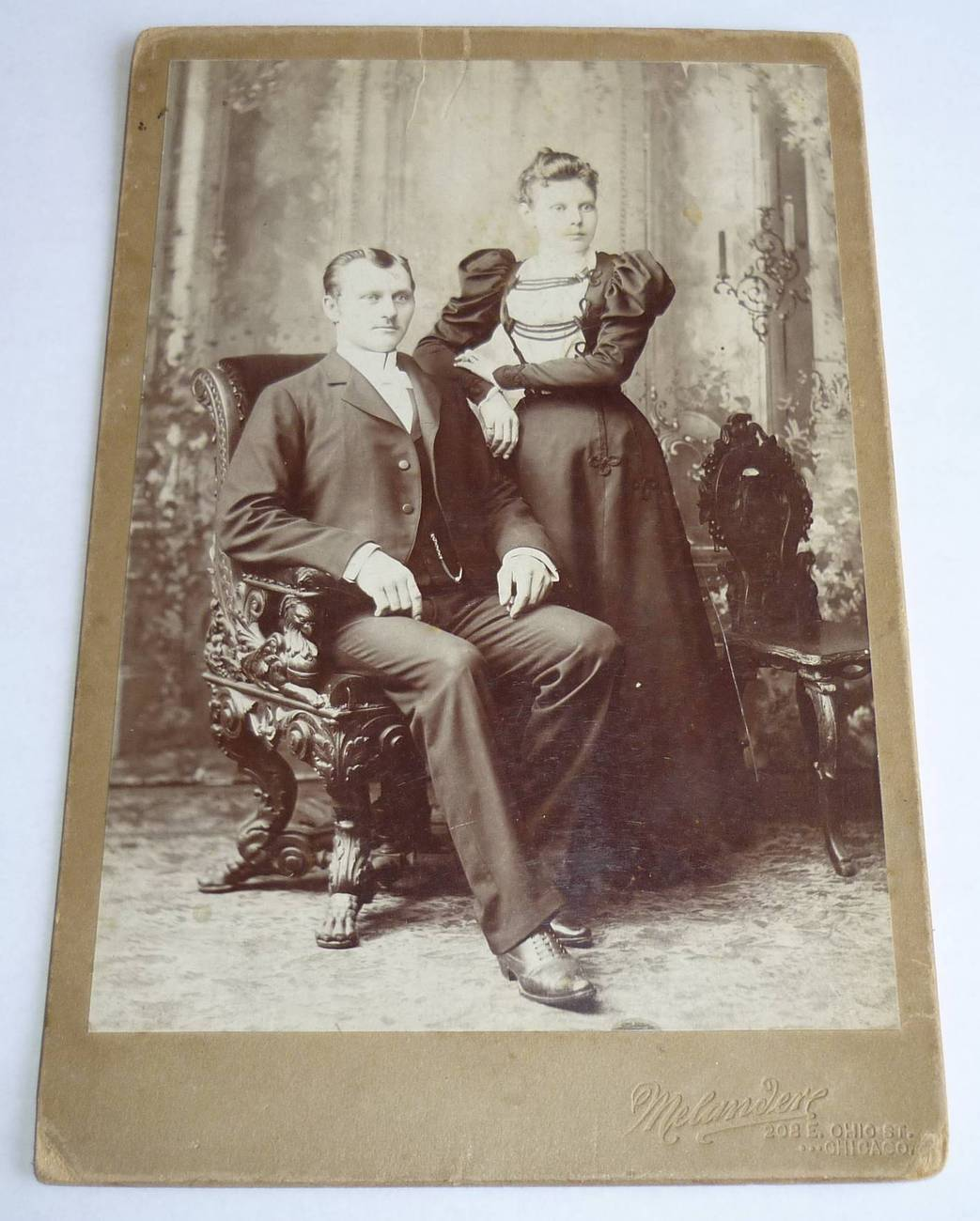 Couple ornate chairs 1