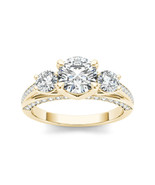 14k Yellow Gold 1 3/4ct TDW Three-stone Diamond Ring - £3,519.19 GBP