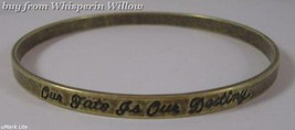 Oxidized Brass Message Bangle - $16.00