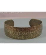 Oxidized Hammered Brass Cuff - $15.00